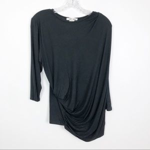 Sweet Lindsey Ruched Top Black Plus Size 1X